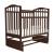 Кроватка детская с маятником Золушка 3 (вишня)